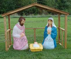 Lighted Nativity Set For Yard Lighted Outdoor Nativity Scene With Stable Outdoor