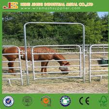 Galvanized Steel Pipe Corral Fence Panel For Livestock Farm Fence