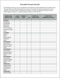 Apartment Checklist Template Bathroom Cleaning Log Best Walkthrough