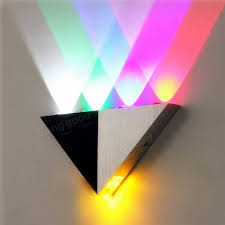 multi color triangle 5w led wall sconce lamp up down indoor lighting