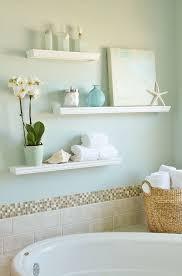 Bathroom Floating Shelf Round Porcelain Sink White Porcelain ...