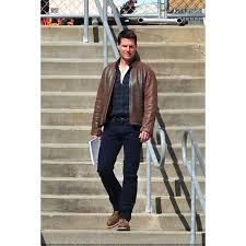tom cruise leather jacket in jack reacher
