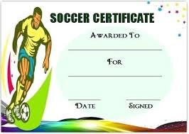 Soccer Certificate Templates For Word Football Award Templates Word Sports Certificate Template