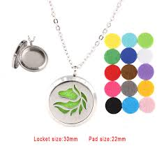 locket size photos 30mm silver horse essential oils diffuser locket aromatheraphy