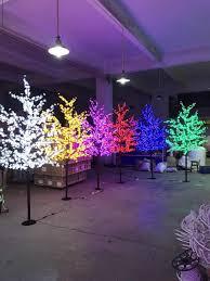 Cherry Blossom Christmas Lights Us 330 0 2m 6 5ft Height Led Artificial Cherry Blossom Tree Christmas Light 1152pcs Led Bulbs 110 220vac Rainproof Fairy Garden Decor In Trees From