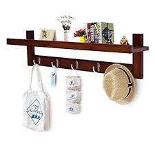 Amazon Coat Hook Rack Classy Amazon Genenic Bamboo Wall Mount ShelfCoat Hook Rack Unibody