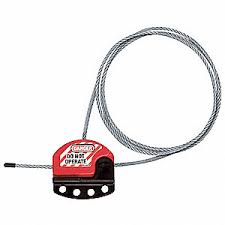 MASTER <b>LOCK Cable Lockout</b>, Thermoplastic Polyurethane, 6 ft ...