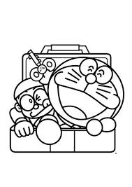 Gambar kartun doraemon keren hitam putih dalam untuk diwarnai. Mewarnai Doraemon Dan Nobita Kumpulan Gambar Menarik
