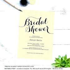 Bridal Shower Invitations Templates Microsoft Word Free Bridal Shower Invitation Templates For Word Bridal Shower