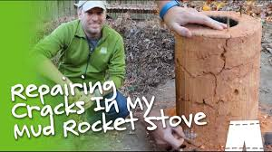 How To Fix A Stove How To Fix A Cracked Mud Rocket Stove Cabin Pinterest To Fix