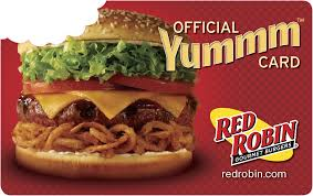 25 red robin gourmet burgers gift card