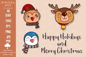 Make stunning animations and export a single animated svg file. Cartoon Christmas Cute Animal Kawaii Graphic By Momixzaa Creative Fabrica