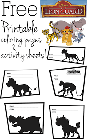 Small Picture Free Printable The Lion Guard Coloring Pages and Activity Sheets