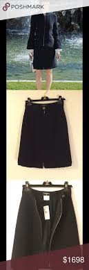 chanel 94305. chanel 94305 zip front a-line skirt authentic chanel, front, a-
