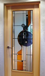 contemporary stained glass door panel