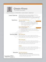 Resume Template Samples Cover Letter Design Template