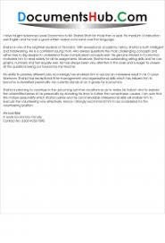 Letter Of Recommendation For Internship Recommendation Letter For Internship Template