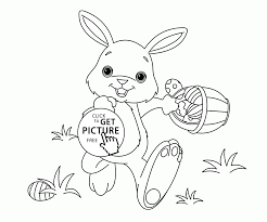 You can print each one of the pages, before or after you coloured them, so if you'd like to colour a specific page with real colours, just hit the print icon. Funny Little Easter Bunny Coloring Page For Kids Pages Rabbit Free Book Printable Tures Egg Color To Print Pictures And Oguchionyewu