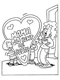Kleurplaat Moederdag Mama Is De Beste Kleurplatennl