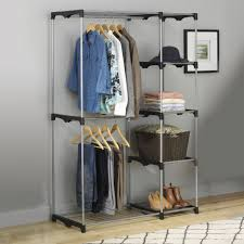 simply effective freestanding closet clothes organizers ideas