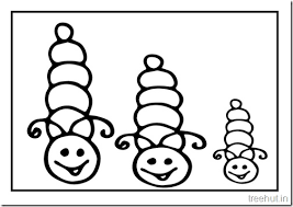 Small Picture Cute Caterpillar Coloring Pages