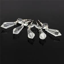 10x for curtains partitions entrance loose beads chandelier clear glass crystal lamp prism hanging drop pendant