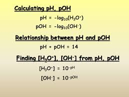 calculating ph poh