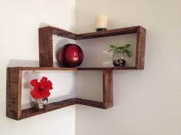 Furniture Accessories:Diy Corner Shelves Design Homemade Pallet Wood Wall  Shelf Diy Corner Shelves Design