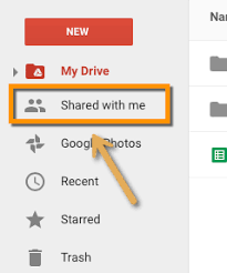 Accessing Files In Your Google Drive Shared With Me Vcfa