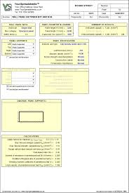 Masonry Wall Panel Design Spreadsheet To Bs 5628