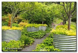 corrugated metal debbie teashon fruit tree walkway