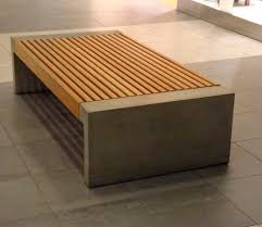 concrete and wood furniture. Public Bench / Contemporary In Wood Galvanized Steel - PAXA By Blenda Design Concrete And Furniture