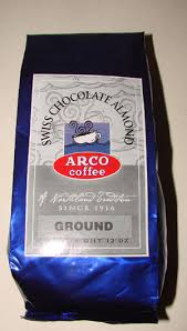 However, in order to minimise social interaction, despatch will be undertaken less frequently and to coincide with requirements to go out for essential shopping. Arco Swiss Chocolate Almond Flavored Coffee 12 Oz 340 19 G Swiss Chocolate Almond Flavored Coffee 12oz 340 19g 2941253 Grd 2941251 Wb 8 98 Arco Coffee Co Fresh Roasted Coffee Since 1916