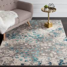 excellent bungalow rose crosier grey light blue area rug reviews wayfair throughout bright blue area rug popular