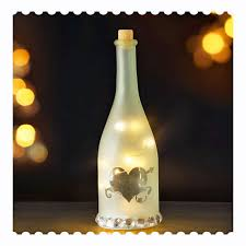 lamp wine bottle table