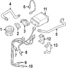 parts com® nissan sensor assy air partnumber 226936m400 2002 nissan sentra ca l4 1 8 liter gas powertrain control