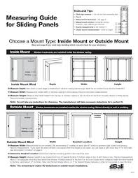 Bali Blinds Price Chart Measuring Guide For Sliding Panels Bali Blinds And Shades