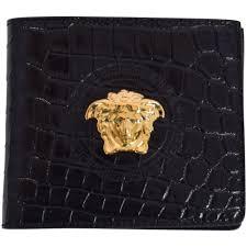 black leather bifold wallet