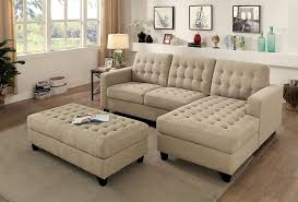 4pc sectional sofa beige linen like