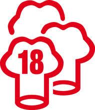 """Résultat de recherche d'images pour """"logo 18 gault et millau"""""""