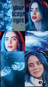 Billie Eilish blue aesthetic wallpaper ...