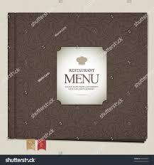 Restaurant Menu Book Design Restaurant Menu Design Book Bookmarks Stock Vector Royalty