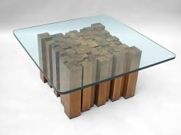 Awesome Wood Glass Coffee Table Round With Rectangular Modern And Wooden  Sheld Steel Base