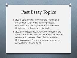 french n war essay questions par resume french n war essay questions