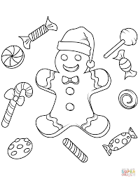 Christmas Gingerbread Coloring Page Free Printable Coloring Pages