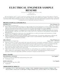 Electrical Engineering Resume Samples Electronics Engineer Resume Sample Electronic Engineer Resume Sample