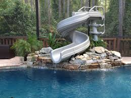 pool slides with rock design cool swimming pools slides5 pools