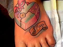 Memorial Quilting Tattoo On Foot &  Adamdwight.com