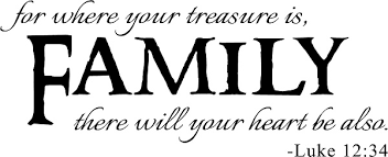 Family Quote Extraordinary Family Quotes Vinyl Wall Decals For Where Your Treasure Is