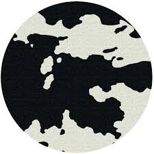 black white striped rug ikea and 8 round cowhide cabin place manufactured